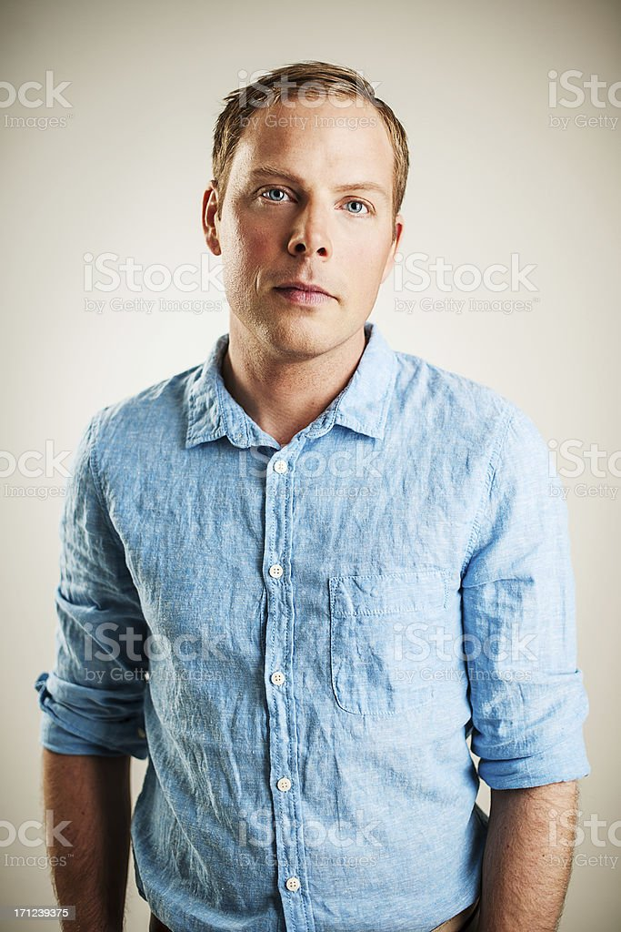 Handsome pensive man royalty-free stock photo