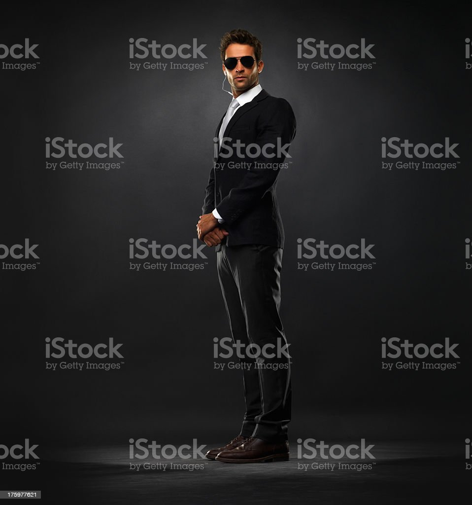 Handsome secret service agent stock photo