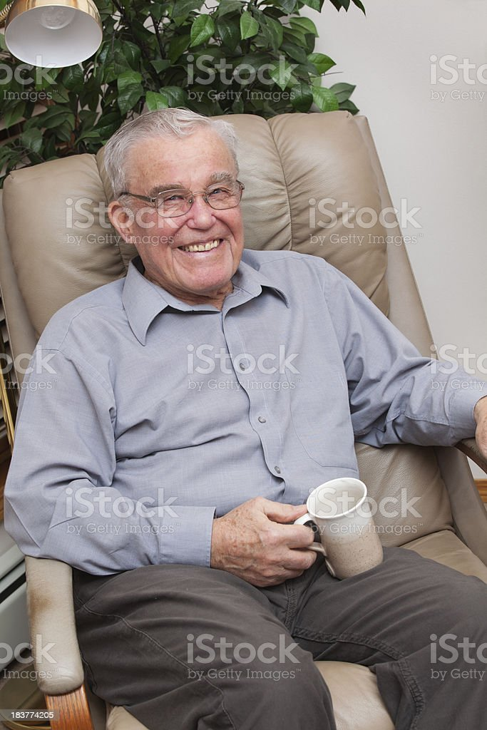 Handsome Senior In Chair royalty-free stock photo