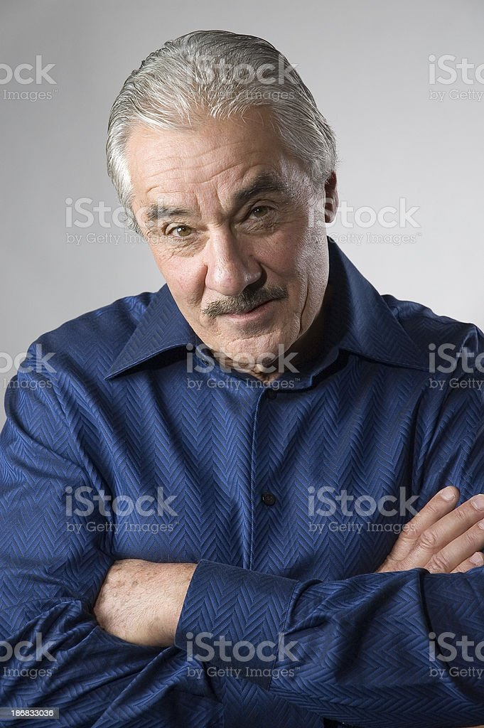 Handsome Senior Man - Skeptical 2 royalty-free stock photo