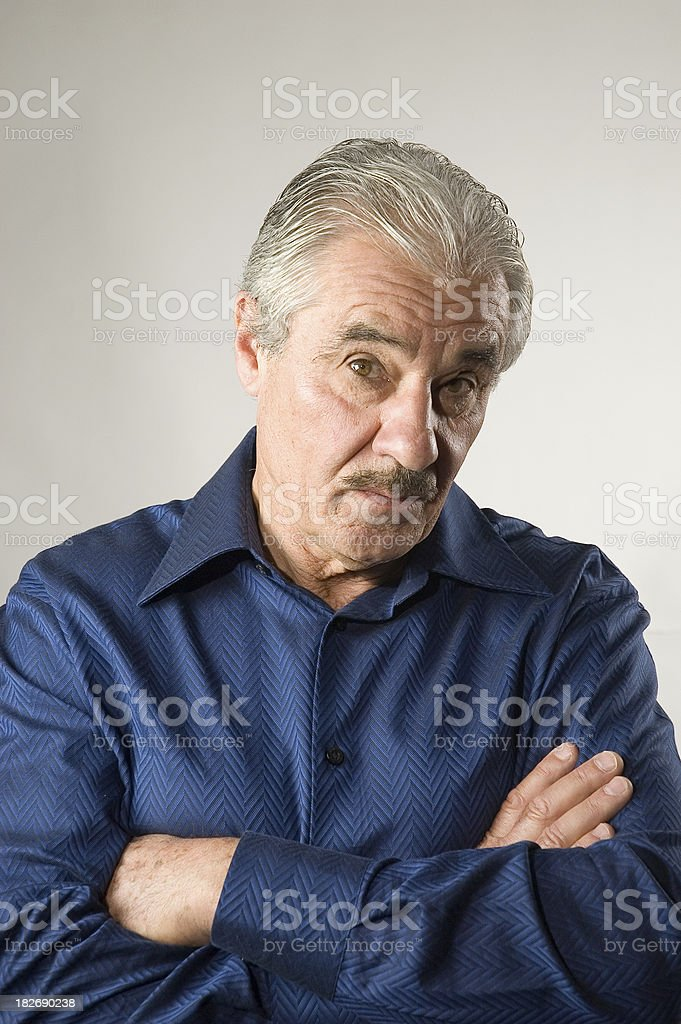 Handsome Senior Man - Skeptical stock photo