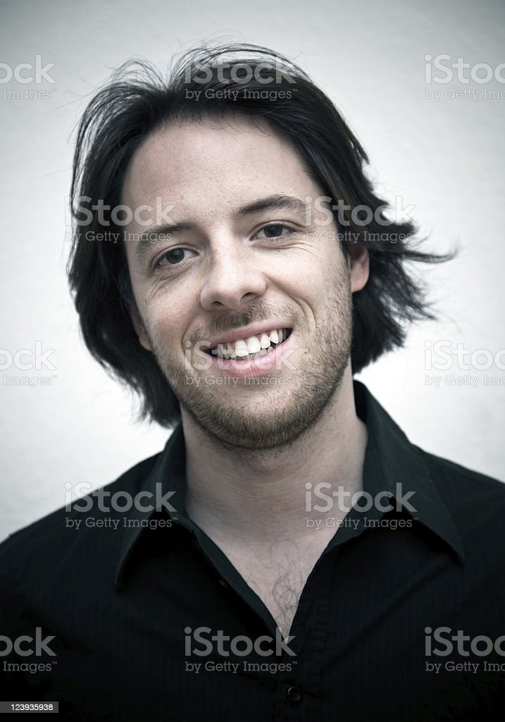 Handsome Serene Real Man Portrait royalty-free stock photo