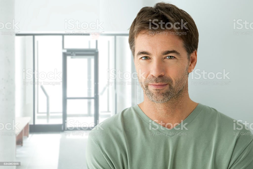 Handsome Serious Man stock photo