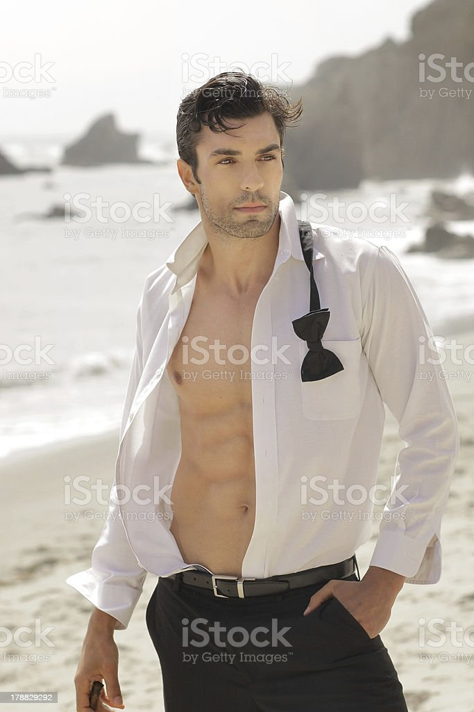 Handsome sexy guy royalty-free stock photo