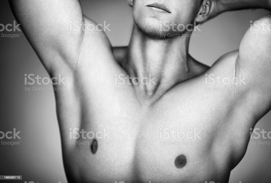 Handsome shirtless man. royalty-free stock photo
