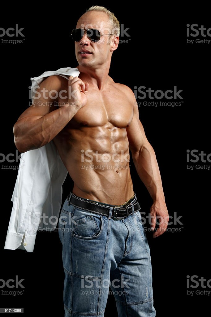 Handsome shirtless man royalty-free stock photo