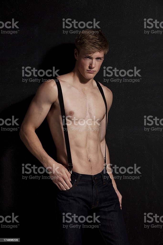 Handsome shirtless young man royalty-free stock photo