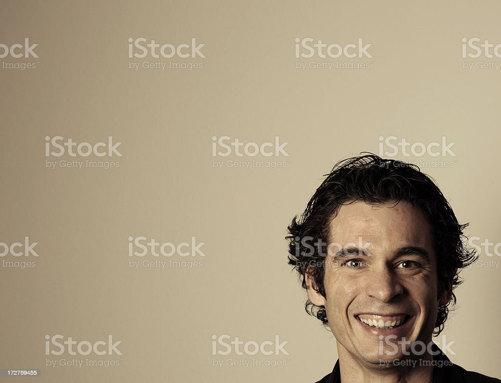 handsome smile royalty-free stock photo