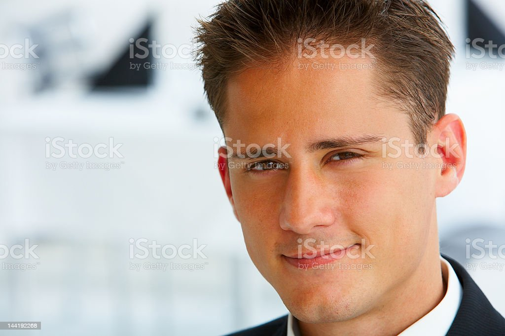 Handsome smiling businessman royalty-free stock photo