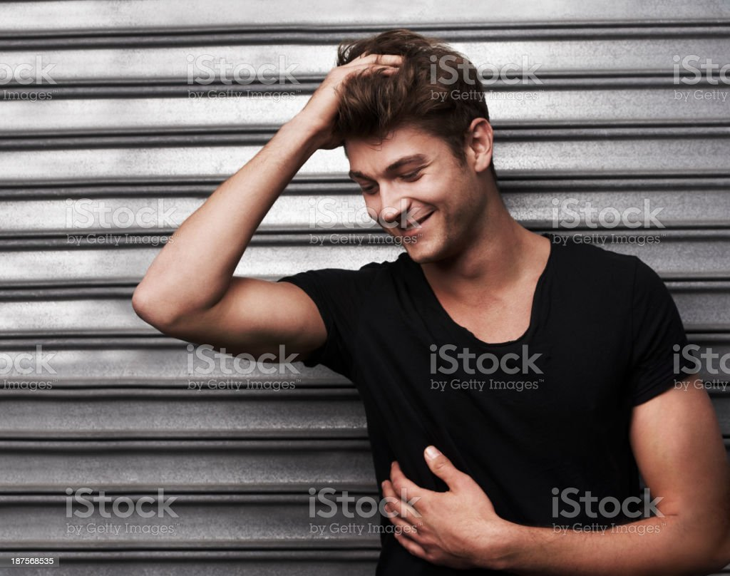 Handsome, stylish and relaxed stock photo