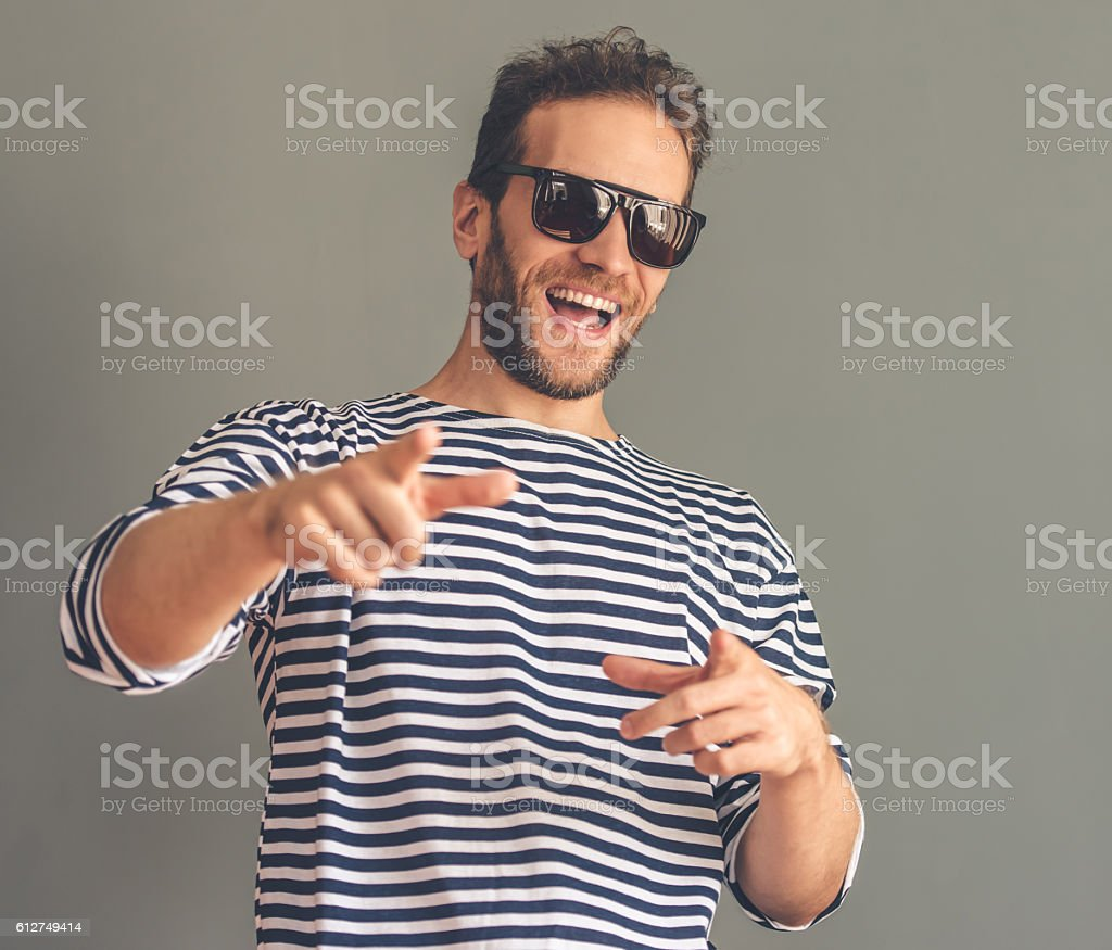 Handsome stylish man stock photo