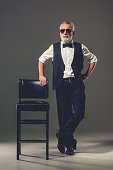 Handsome stylish mature man