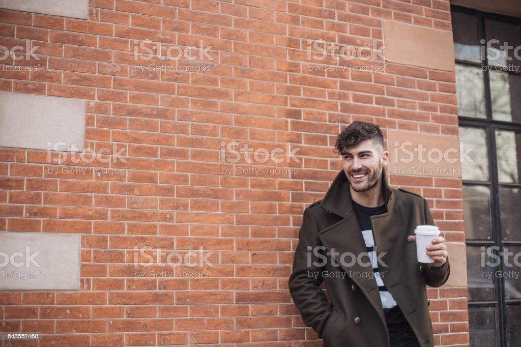 Handsome urban man stock photo