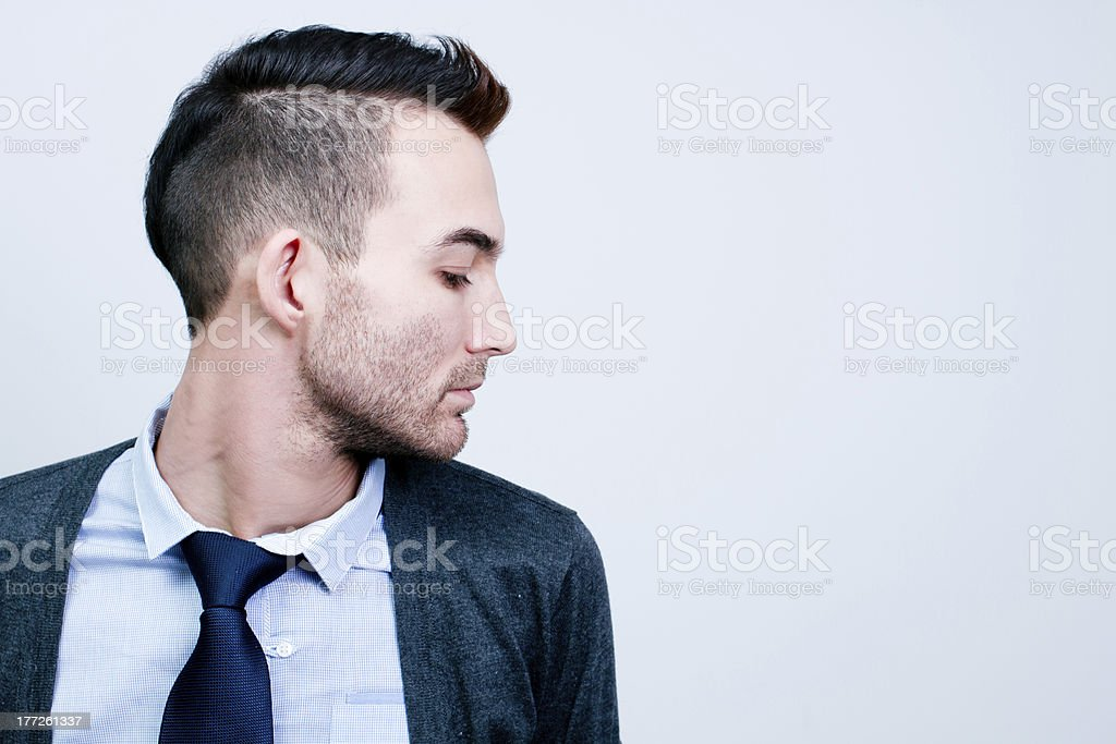 handsome young adult man royalty-free stock photo