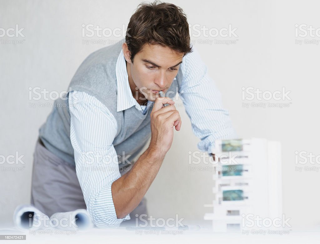 Handsome young architect at work royalty-free stock photo