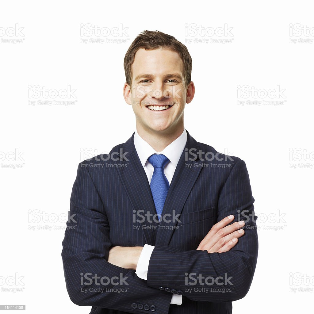 Handsome Young Businessman - Isolated stock photo