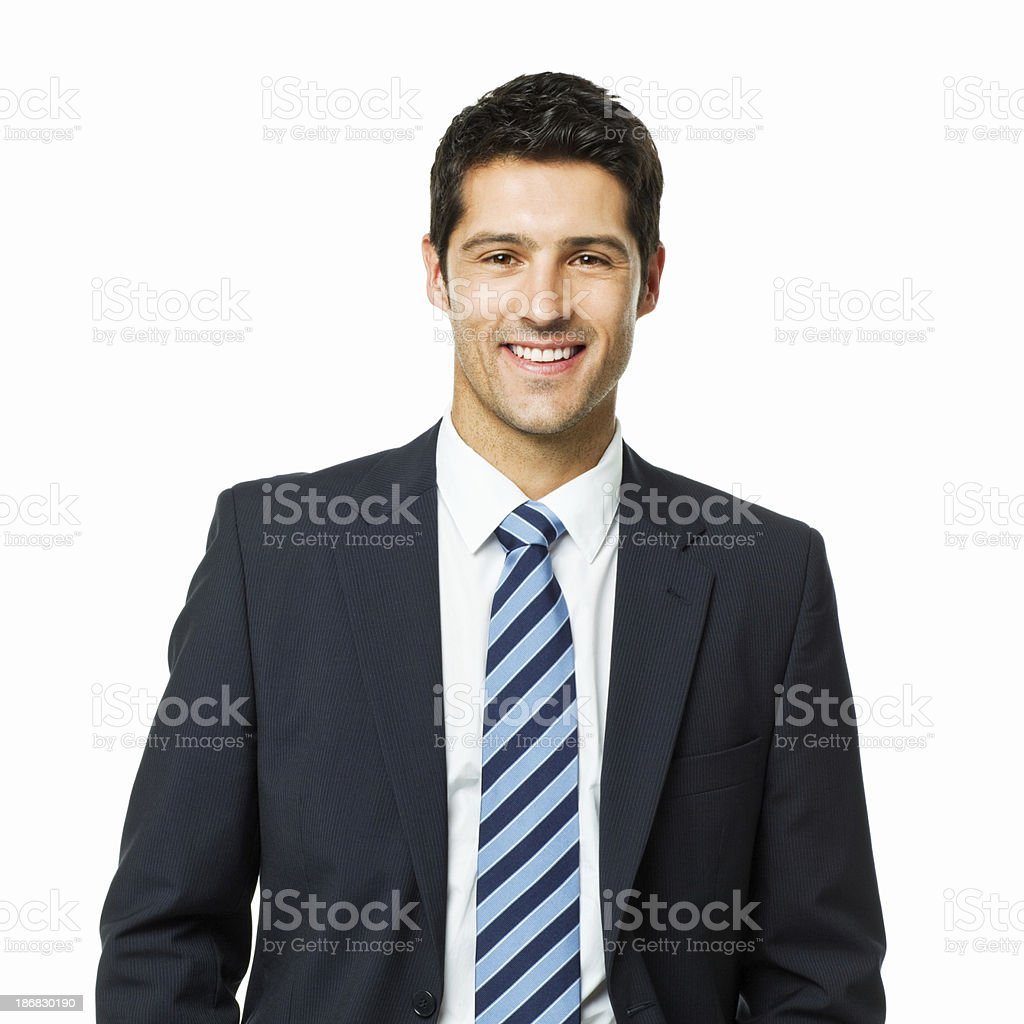 Handsome Young Businessman Portrait - Isolated royalty-free stock photo