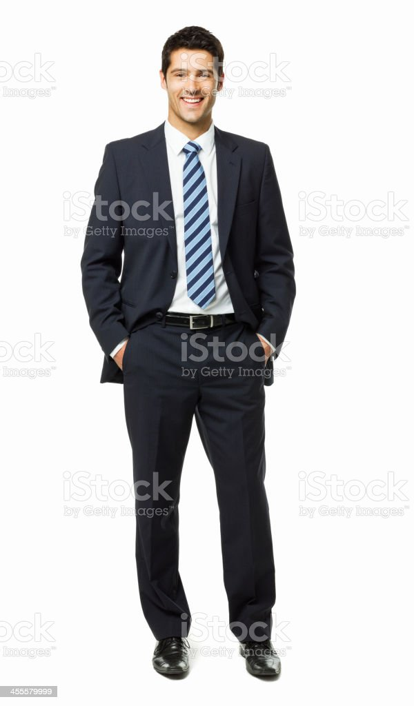 Handsome Young Businessman Portrait - Isolated stock photo