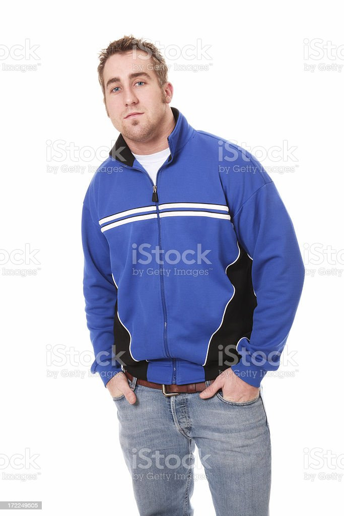 Handsome Young Man in Blue Jacket royalty-free stock photo
