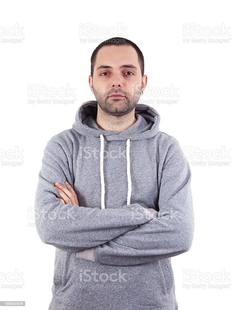 Handsome young man isolated over white royalty-free stock photo