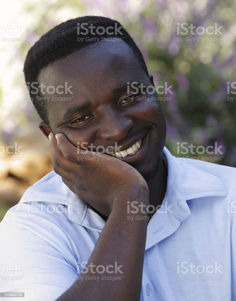 Handsome young man relaxing royalty-free stock photo
