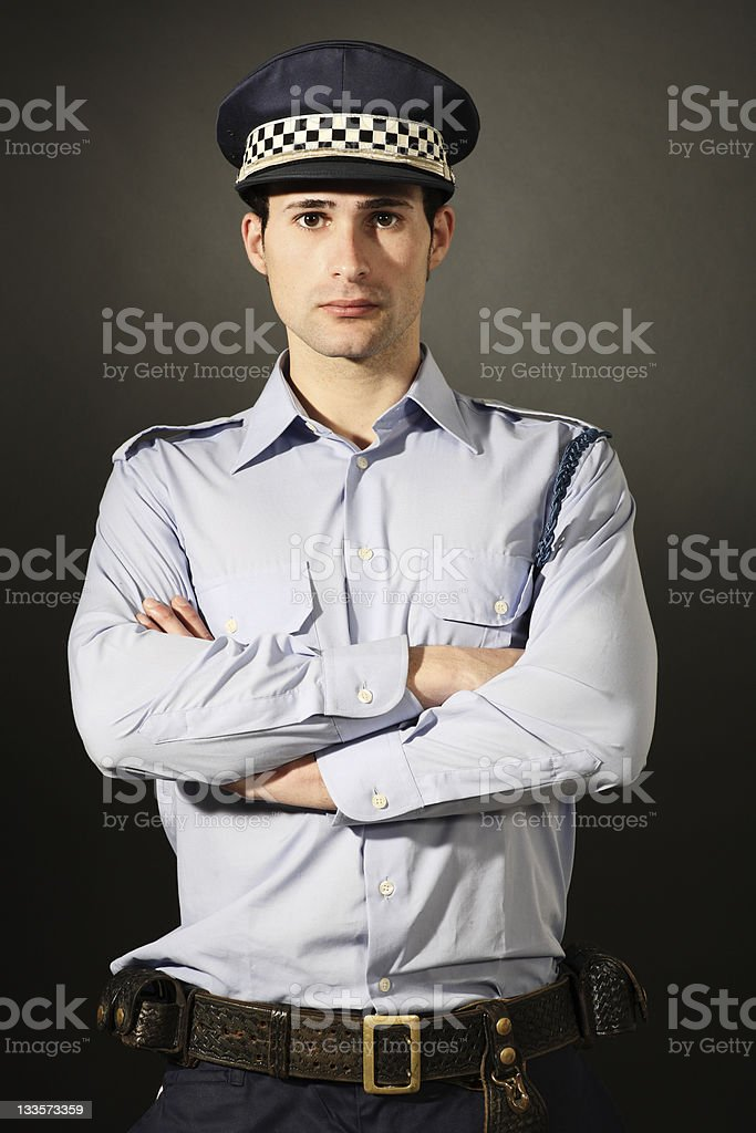 Handsome young policeman. royalty-free stock photo