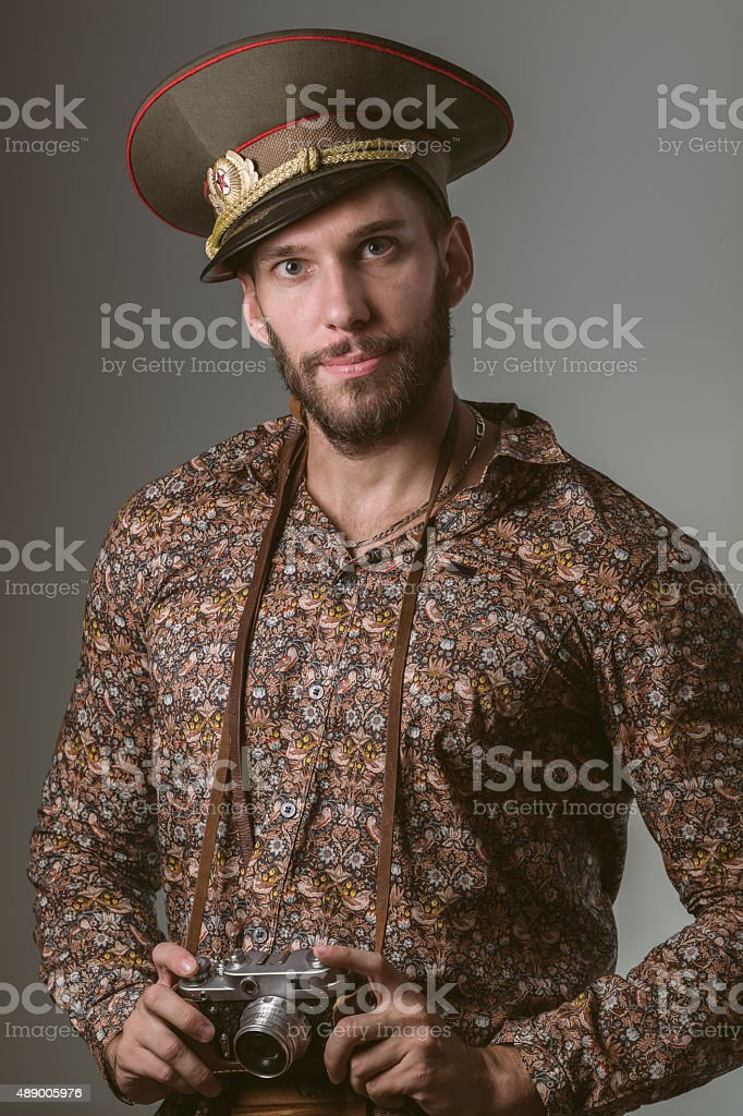 Handsome Young Russian Tourist royalty-free stock photo