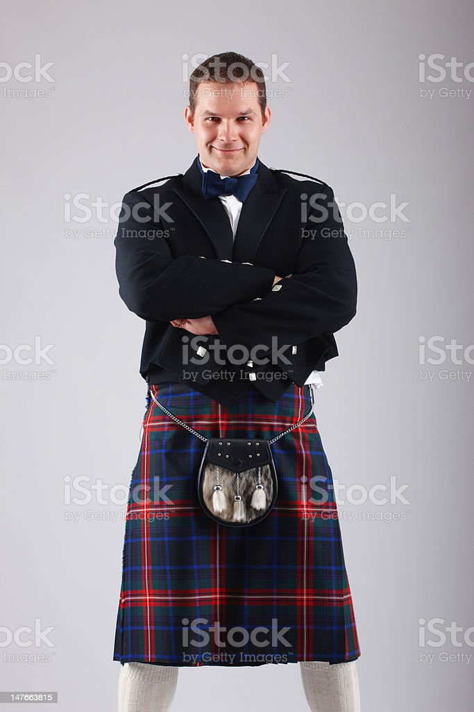 Handsome young scotsman stock photo