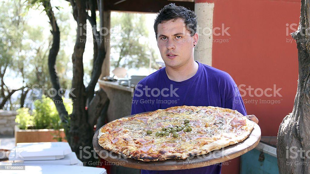 Handsome Young Waiter Portrait royalty-free stock photo