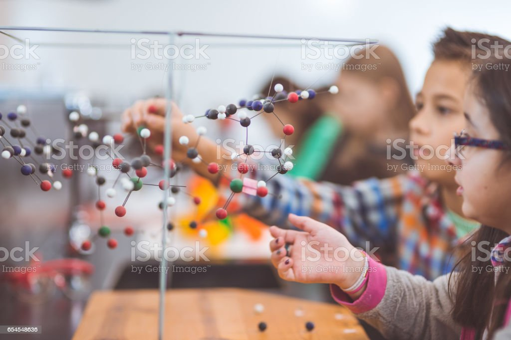 Hands-on science lab stock photo
