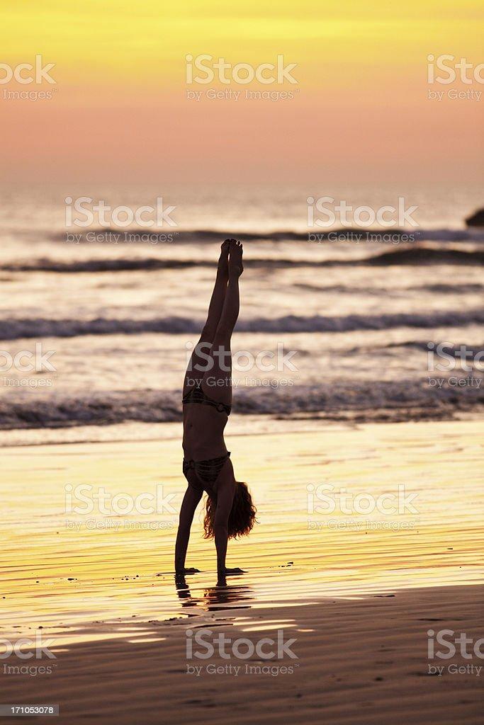 handstand royalty-free stock photo