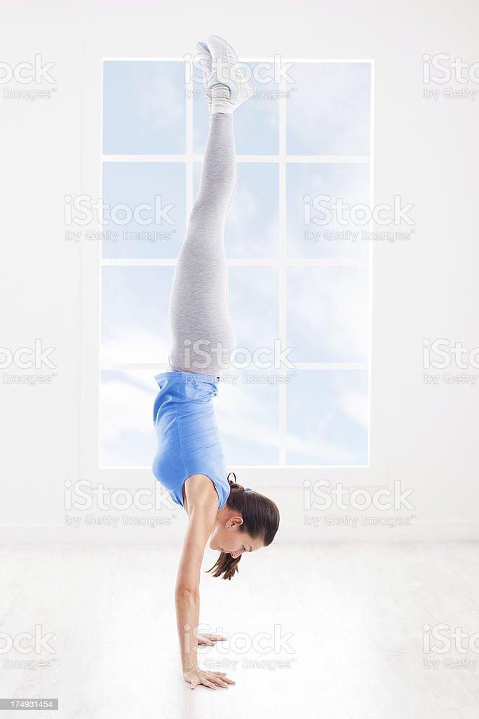 Handstand stock photo