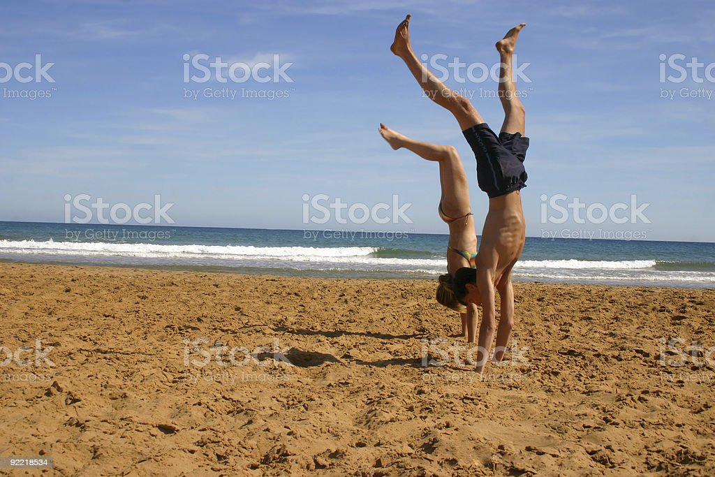 handstands royalty-free stock photo