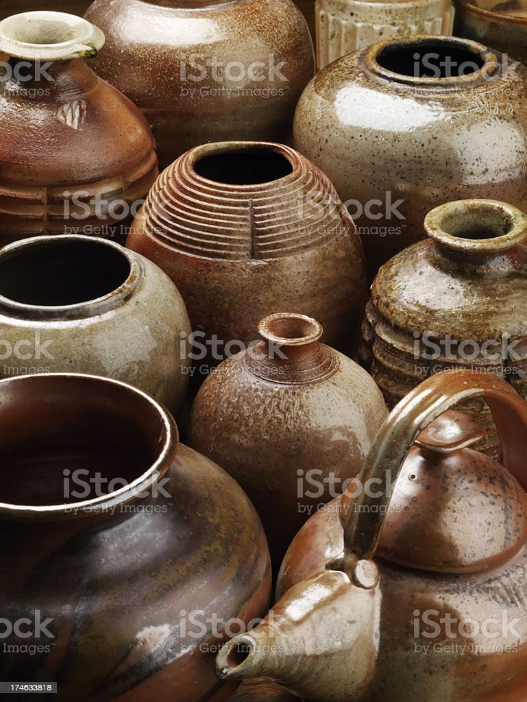 Hand-Thrown Pottery royalty-free stock photo