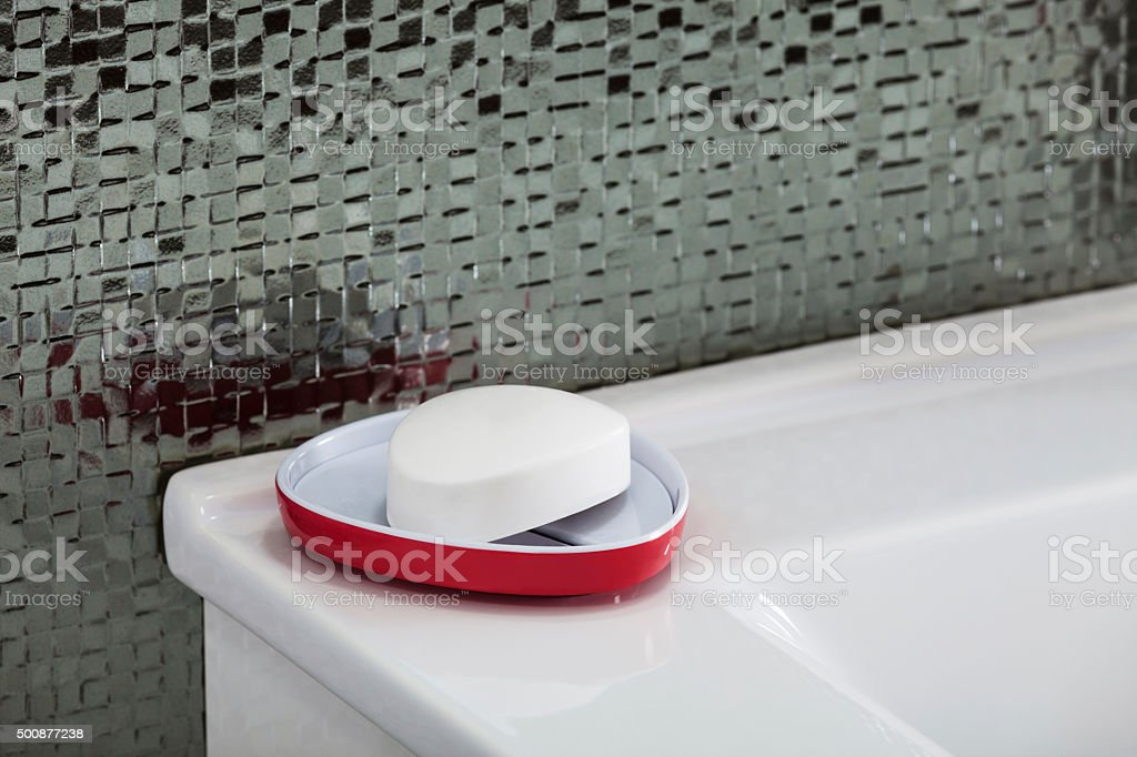 hand-washing soap on the sink stock photo