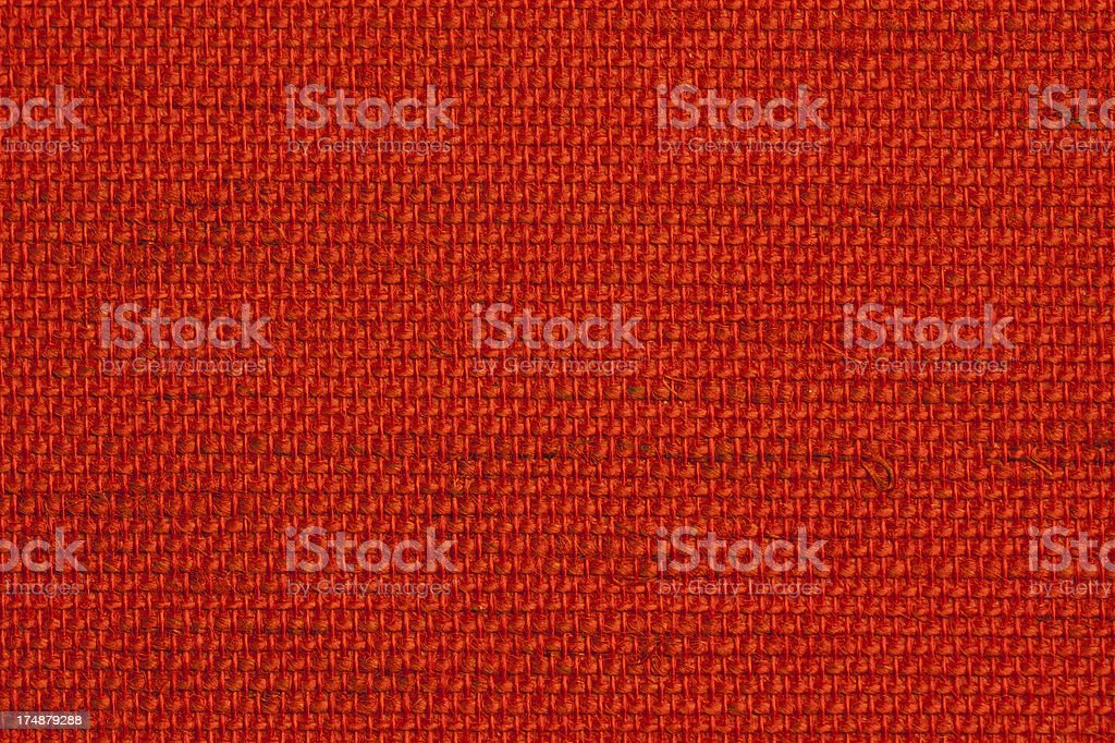 handwoven red fabric background royalty-free stock photo