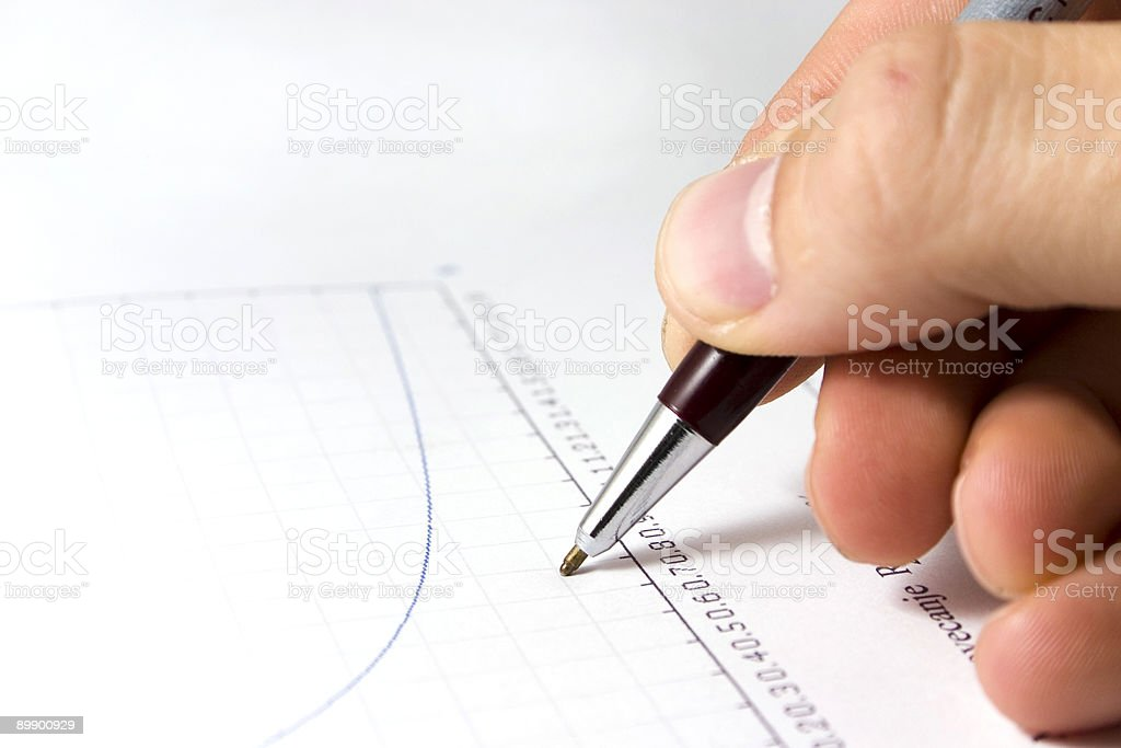Handwrite royalty-free stock photo