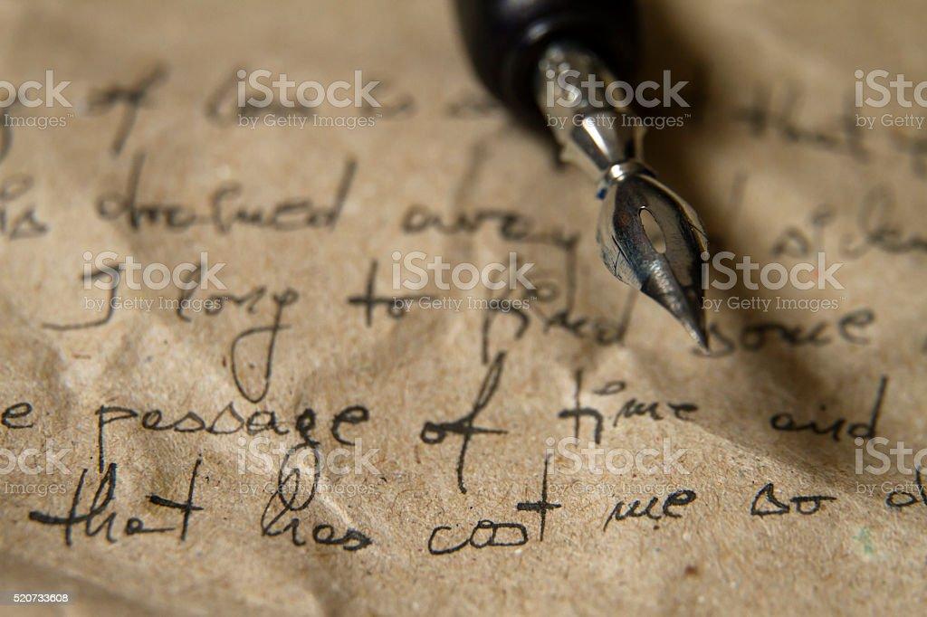 Handwriting background stock photo