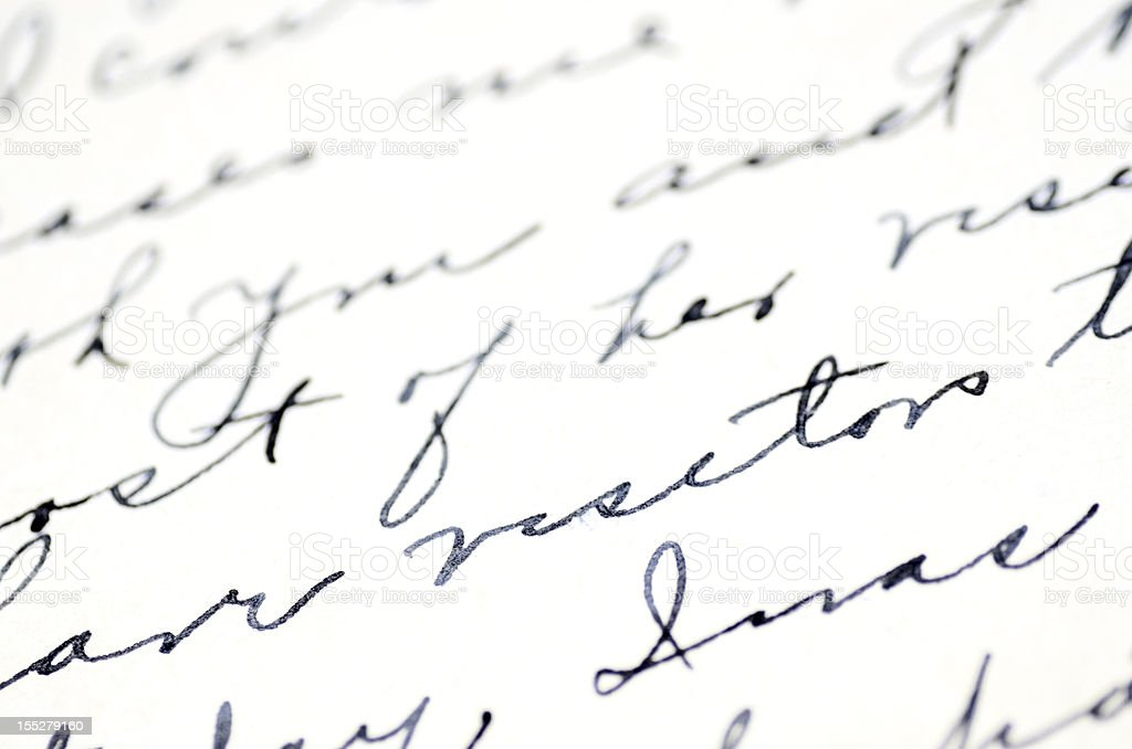 Handwriting stock photo