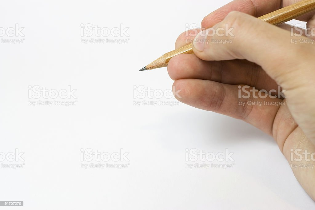 Handwriting with Pencil royalty-free stock photo