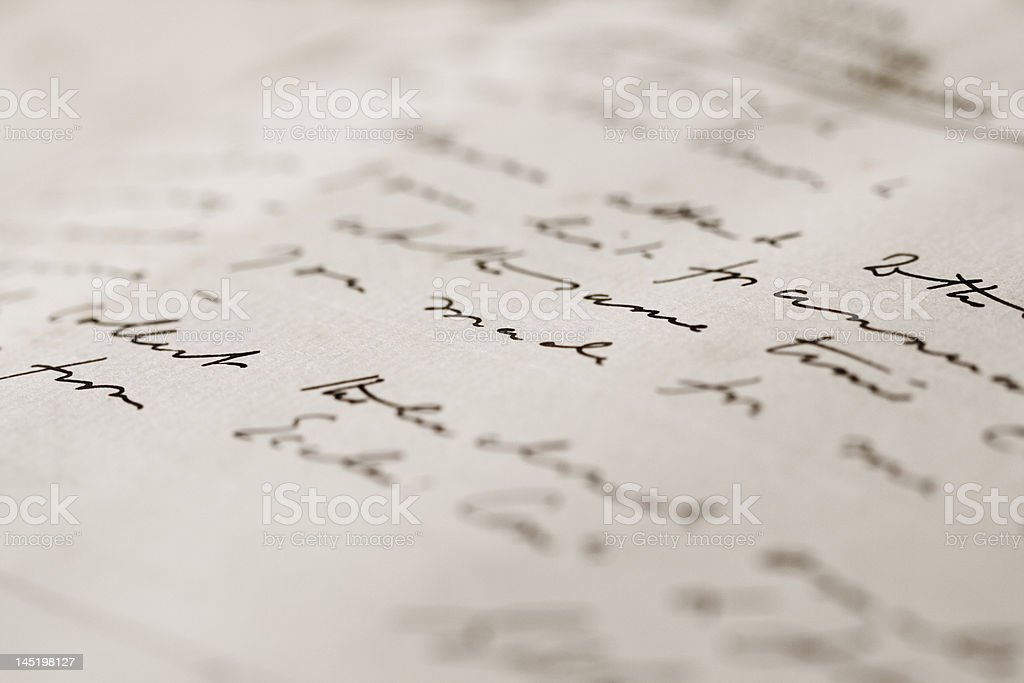 hand-written letter royalty-free stock photo