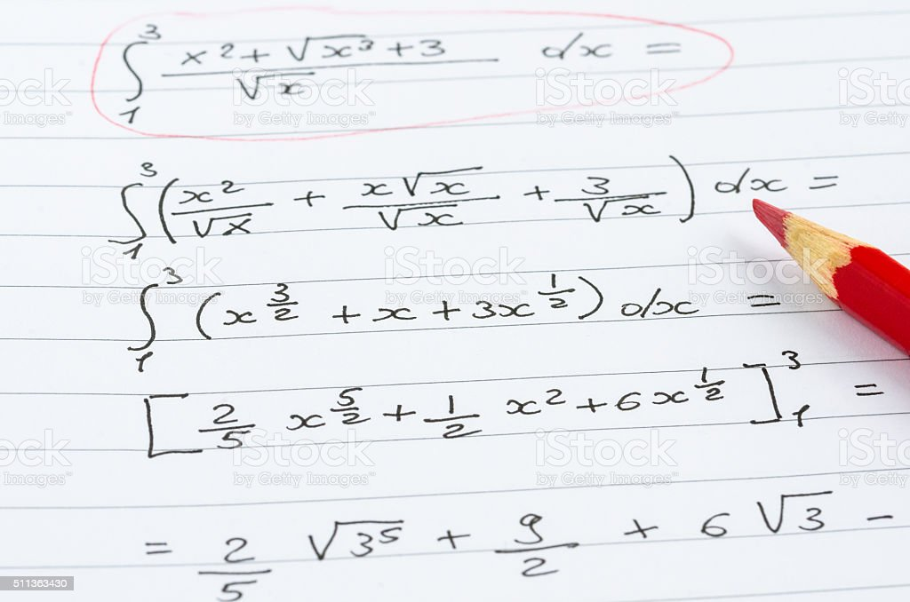 Handwritten Matematical Formulas stock photo