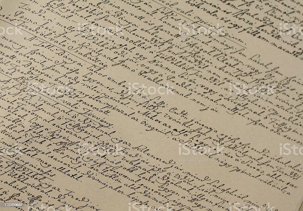 handwritten text 2 royalty-free stock photo