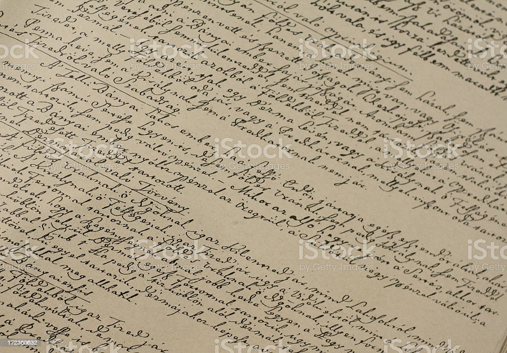 handwritten text 2 stock photo