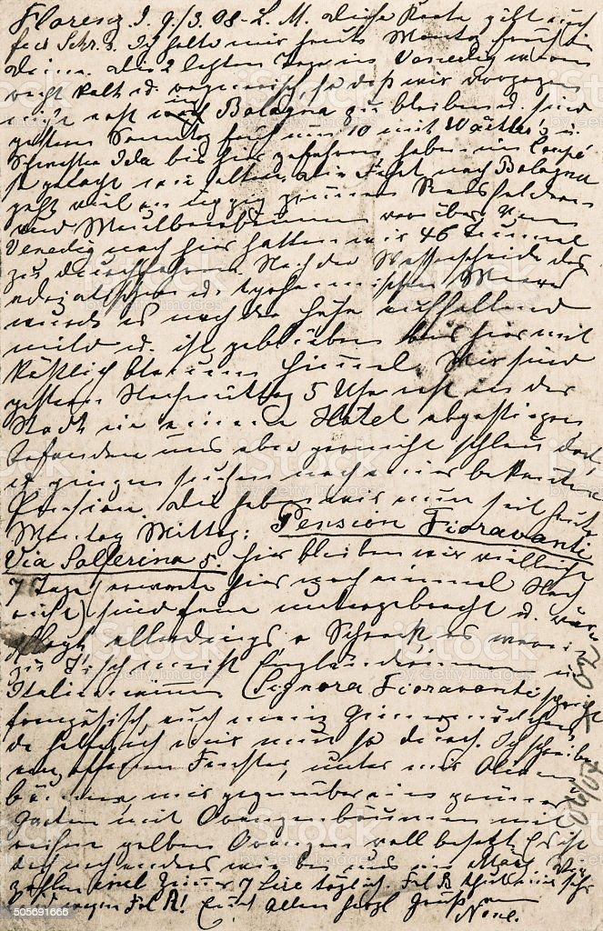 Handwritten text. Grunge paper texture background stock photo