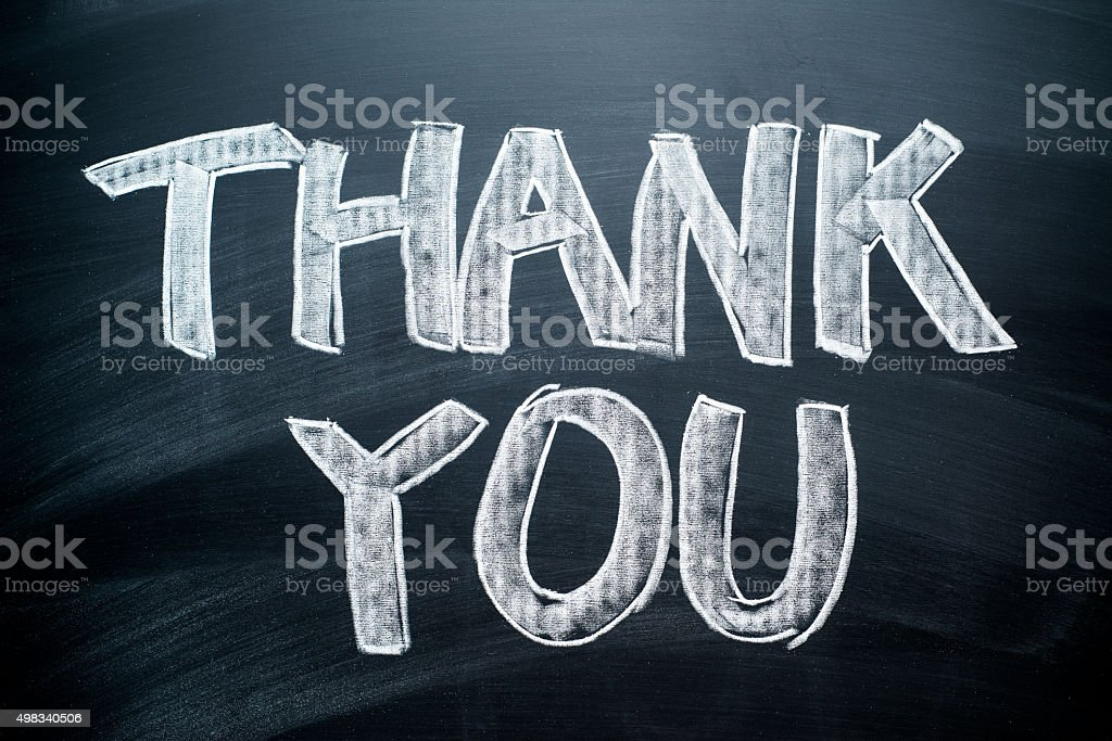 Handwritten Thank You stock photo