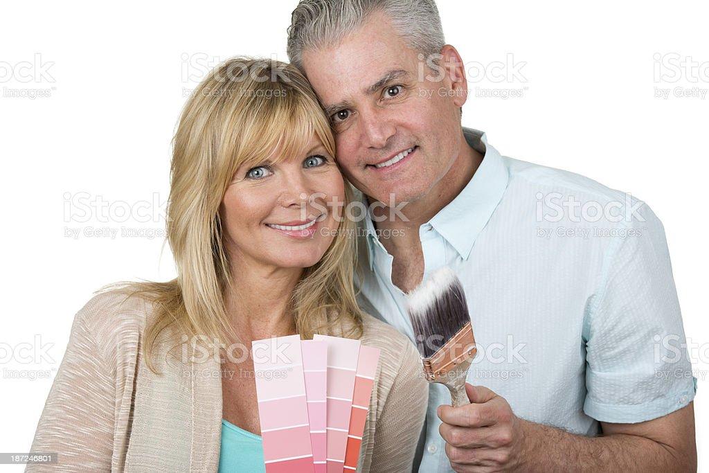 handy couple royalty-free stock photo