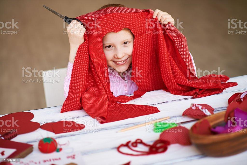 Handy girl stock photo