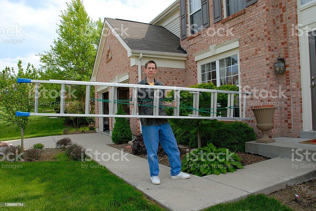Handy Man Ladder royalty-free stock photo