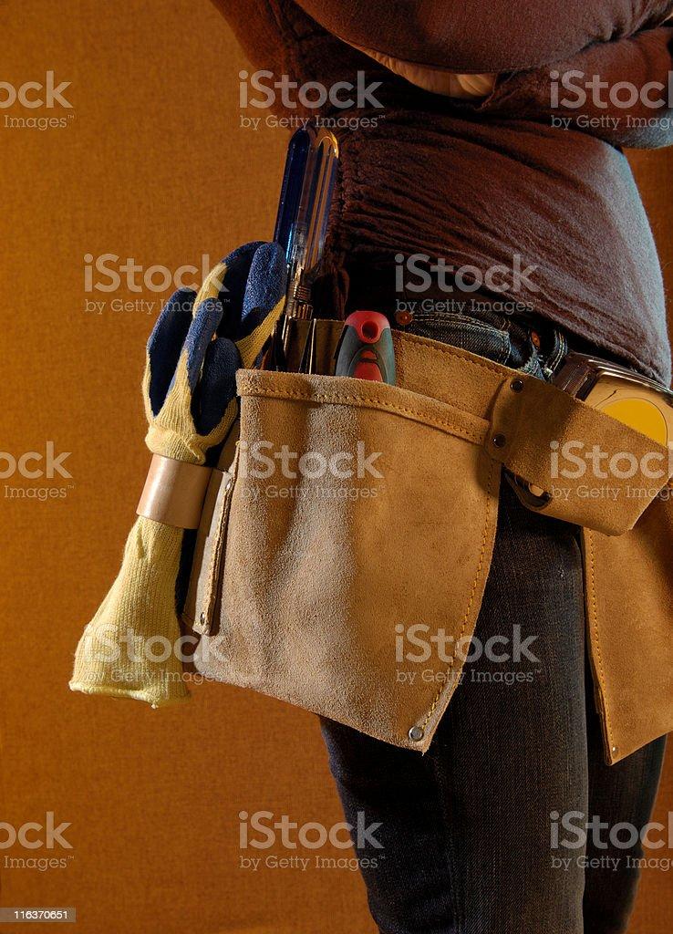 Handy woman royalty-free stock photo